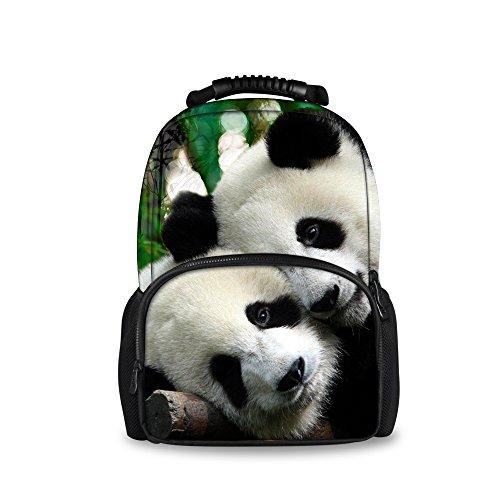 coloranimal Elegante 3d Tiere im Zoo Rucksäcke Für Kinder Schule Buch Taschen panda design