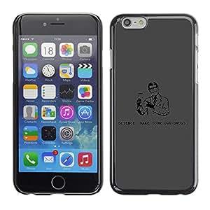 CaseCaptain Carcasa Funda Case - Apple Iphone 6 PLUS 5.5 / Funny Science & Drugs /