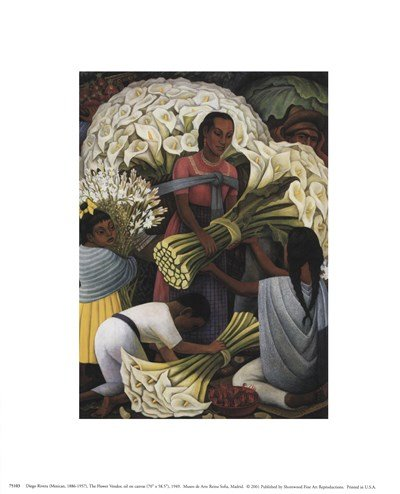 Flower Vendor by Diego Rivera - 8x10 Inches - Art Print Poster