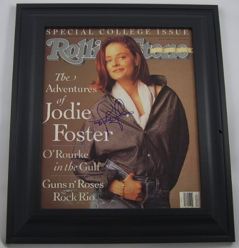 Silence of the Lambs Jodie Foster Signed Autographed Rolling Stone Magazine Framed Loa (Artemis Gallery)