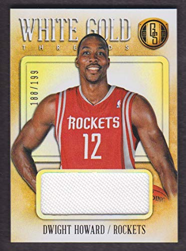 - 2013-14 Panini Gold Standard Basketball White Threads Jersey #56 Dwight Howard 188/199 Rockets