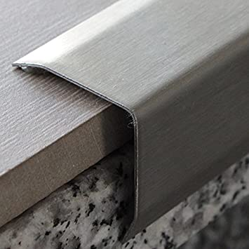 Ángulo de Perfil, cantos de escaleras, perfil Acero Inoxidable V2, autoadhesivos, 30 x 30 mm, 1 m: Amazon.es: Bricolaje y herramientas