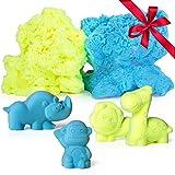 Modeling Clay Molding Putty for Kids – Fluffy Floof Like Kinetic Magnetic Sand w/ 10 Animal Molds, Sensory Fidget Play Dough Little Girls Boys Toys