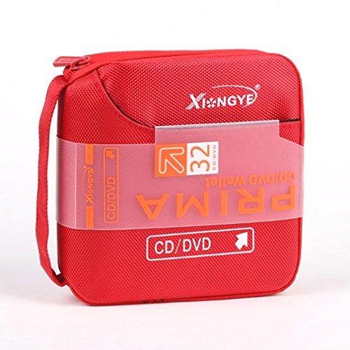 ortable Wallet Storage Organizer Holder Case Bag Album Box - Red ()