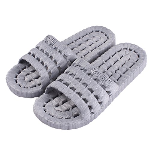 Lightweight Bath Men Men Couple Shoes Beach Jiyaru Slippers Soft Women Grey Flats pRqwO
