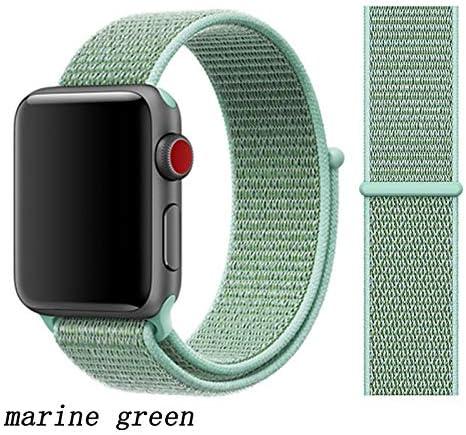 JWJY ユニバーサル・ウォッチバンド44ミリメートル40ミリメートル42ミリメートル38ミリメートルのナイロンブレスレット時計バンド44/42 (Band Color : Marine green, Band Width : 42mm or 44mm)