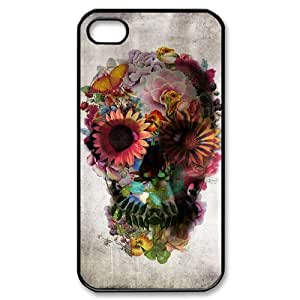 ALICASE Diy Customized hard Case Sugar Skull For Iphone 4/4s [Pattern-1]