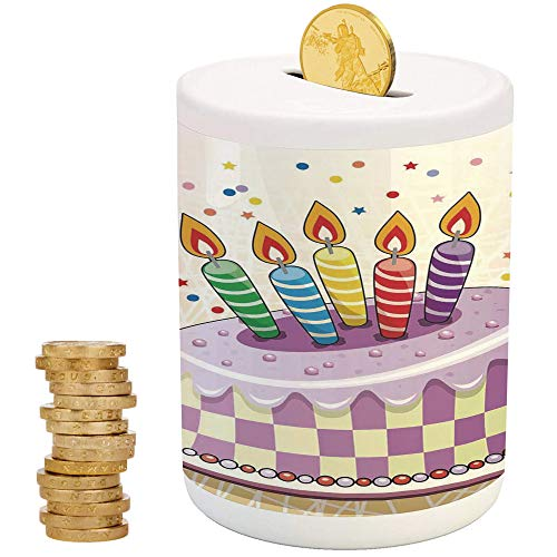 iPrint Birthday Decorations,Piggy Bank,for Party Decor Girls Kid's