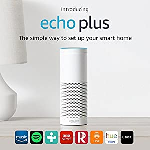 Echo Plus – With built-in smart home hub (White)