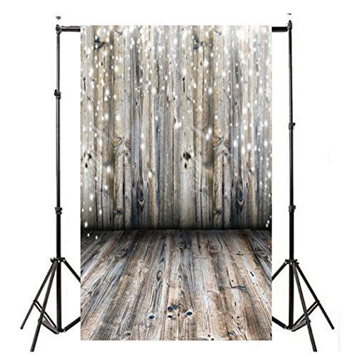 WensLTD Clearance! Vinyl Wood Wall Floor Photography Studio Prop Backdrop Background 3x5FT (F)