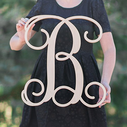 SALE 12 36 Inch Tall Single Letter Wooden Monogram Vine Room Decor Nursery  Decor Wooden Monogram Wall Art Large Wood Monogram Wall Hanging Wood LARGE