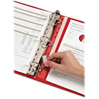 Cardinal Binder Insert Strips, Self-Adhesive Strips, 25 per Pack, Clear (21110)