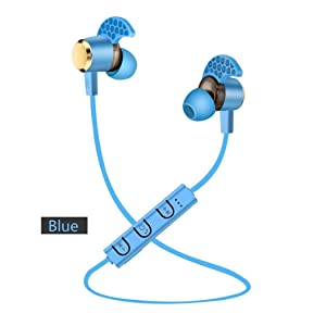 OVERMAL Bluetooth 4.1 Wireless Headphones Stereo Sports Earbuds In-Ear Headsets