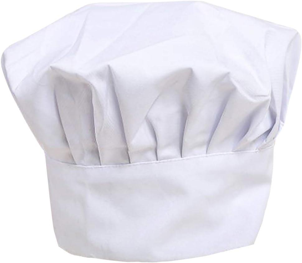Cooking Chef Cap Chapeau de Chef Toque de Chef Chapeau de G/âteau Coton pour Cuisine Restauration Salle /à Manger