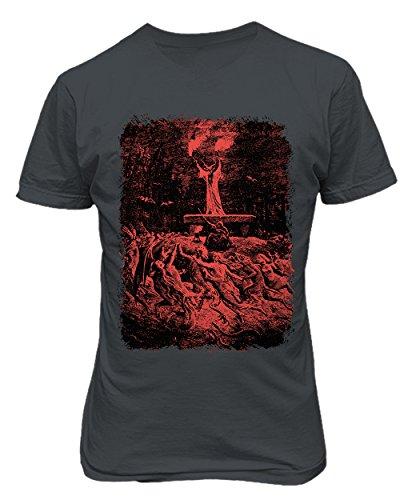 RIVEBELLA New Graphic Shirt Witches Sabbath Novelty Tee Dore Another Sabbath Men's T-Shirt (Charcoal, 3XL)