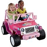 Fisher-Price Power Wheels Barbie Jammin' Jeep Wrangler Ride On