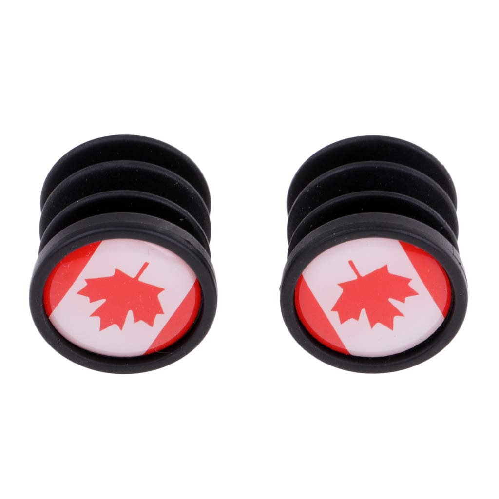 2PCS 7//8 22mm National Flag Bicycle Handlebar Plastic Bar End Plugs Caps