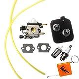 Huri Carburetor + Fuel Filter for STIHL BG45BG46BG55BG65BG85SH55SH85Leaf Blower Lawn Mowers Replaces Zama C1Q S68G, 42291200606, 42291201800