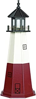product image for DutchCrafters Decorative Lighthouse - Wood, Vermillion Style (Cherrywood/Black/White, 3)