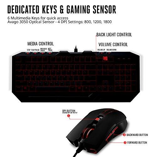 51B4QDOtirL - Cooler Master Devastator 3 Gaming Keyboard & Mouse Combo, 7 Color Mode LED Backlit, Media Keys, 4 DPI Settings