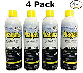 Niagara Spray Starch Plus 20oz - Original with DURAfresh Technology (4-Pack) (Best Starch For Shirts)