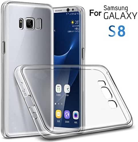 Mchoice Anti-Scratch Shockproof TPU Clear Back Cover Case for Samsung Galaxy S8
