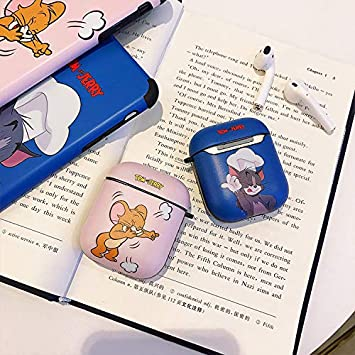 LKDEPO Airpods Cartoon Case Cover and Skin Designed for Kids Girl and Boys PET Material IMD Technology Protective Cover Case Compatible for Airpods 1/&2 Cute Cartoon Doodle Pattern