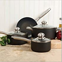 Sunbeam Walshford 7-Piece Cookware Set, Charcoal
