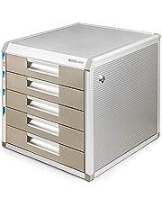 Archivo contenedor con cierre de aleación de aluminio Caja de almacenamiento de datos de la oficina de mesa de escritorio del cajón del armario de deslizamientos pequeña pista de marca blanca 12-30