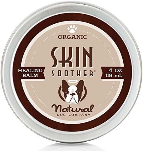 Natural Dog Company - Skin Soother | Organic, All-Natural Healing Balm - Treats Hot Spots, Bacterial Folliculitis, Dermatitis, Alopecia, Mange, Dry Flaky Skin | 4 Oz Tin