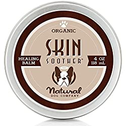 Natural Dog Company - Skin Soother | Organic, All-Natural Healing Balm - Treats Hot Spots, Bacterial Folliculitis, Dermatitis, Alopecia, Mange, Dry Flaky Skin | 4 Oz Tin
