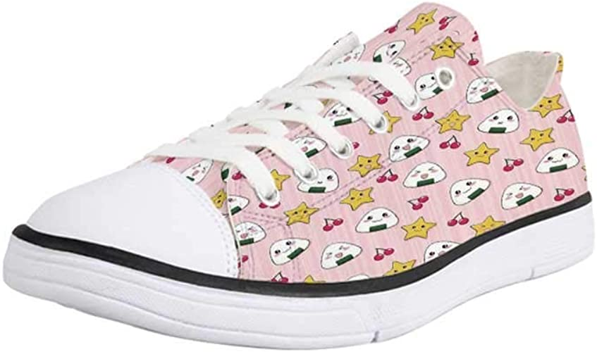 | Canvas Sneaker Low Top Shoes, Anime, Cute