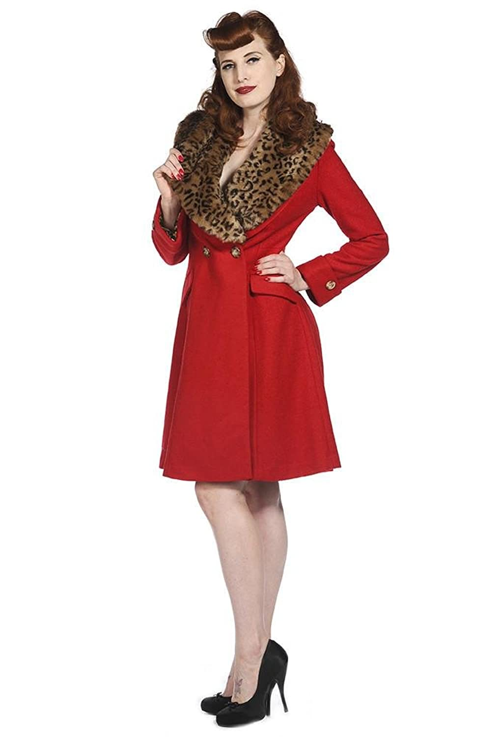 1950s Jackets, Coats, Bolero | Swing, Pin Up, Rockabilly Banned Clothing Red Vintage Coat $157.73 AT vintagedancer.com