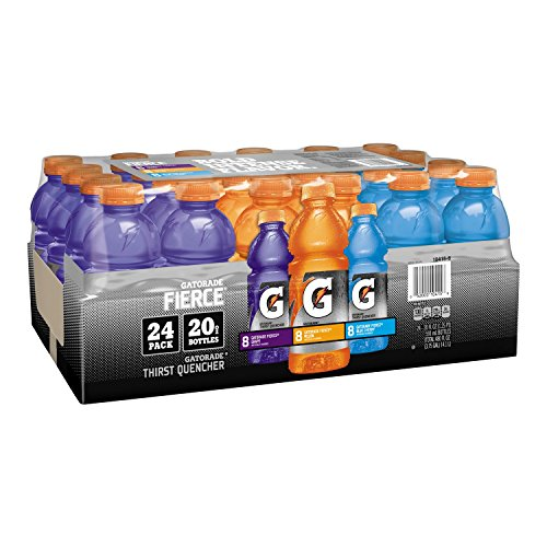 Gatorade Sports Drinks Fierce Variety Pack (20 oz. bottles, 24 ct.) (pack of 6) by Gatorade
