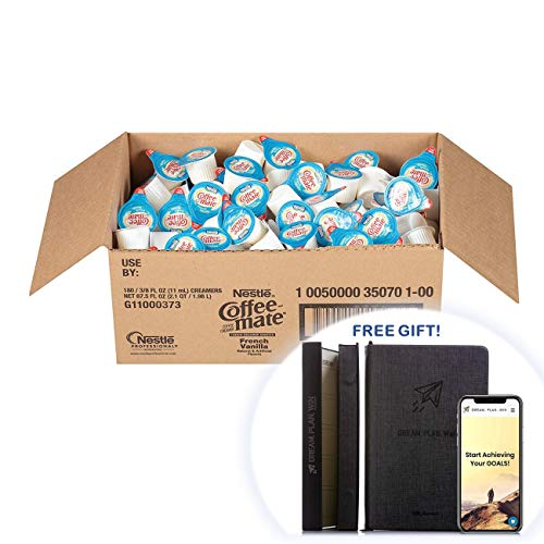Coffee-mate 35070 Liquid Coffee Creamer, Mini Cups, French Vanilla (Box of 330) + FREE GIFT - PRODUCTIVITY PLANNER - Attain Your Dreams! (Coffee Creamers, Pack of 330) by Nestle Coffee Mate (Image #7)