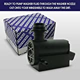 Mean Mug Auto 201525-232316E Windshield Washer Pump w/Grommet - Compatible with Hyundai, Kia - Replaces OEM #: 98510-1C100, 98510-26100, 98510-1W000, 98510-2K000