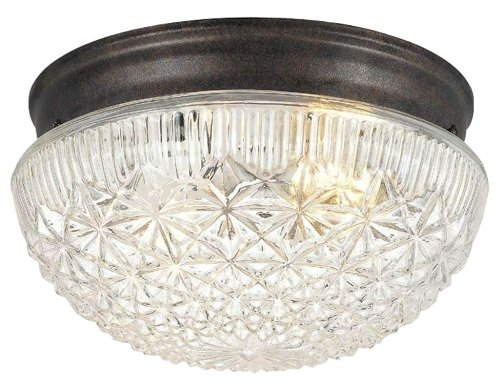 Classic Bronze 2 Light Ceiling Fixture by Hardware House