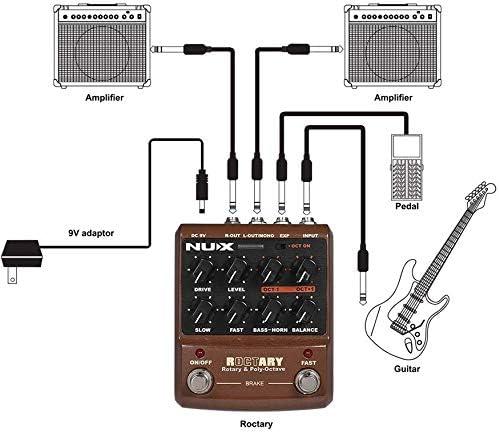 SWEET Guitarra Pedal De Efectos 2 En 1 Rotary Speaker TSAC ...