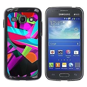 TopCaseStore / la caja del caucho duro de la cubierta de protección de la piel - Colors Colorful Teal Pink Shapes - Samsung Galaxy Ace 3 GT-S7270 GT-S7275 GT-S7272