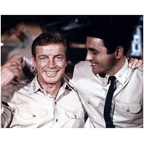 Voyage to the Bottom of the Sea (TV Series) 8 & 10 Photo Richard Basehart w/David Hedison Smiling Arms Around Each Other kn