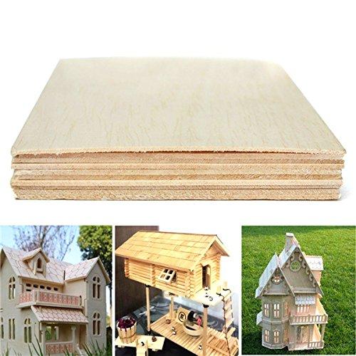 10 pezzi Generic 200 x 100 x 1,5 mm Lamiera in legno di balsa