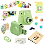 Fujifilm Instax Mini 9 Camera LIME GREEN + Accessories kit for Fujifilm Instax Mini 9 Camera Includes; Fuji Instant Camera (NEW 2017 Release) + Camera Case + instax Album + Frames + Color lens + MORE