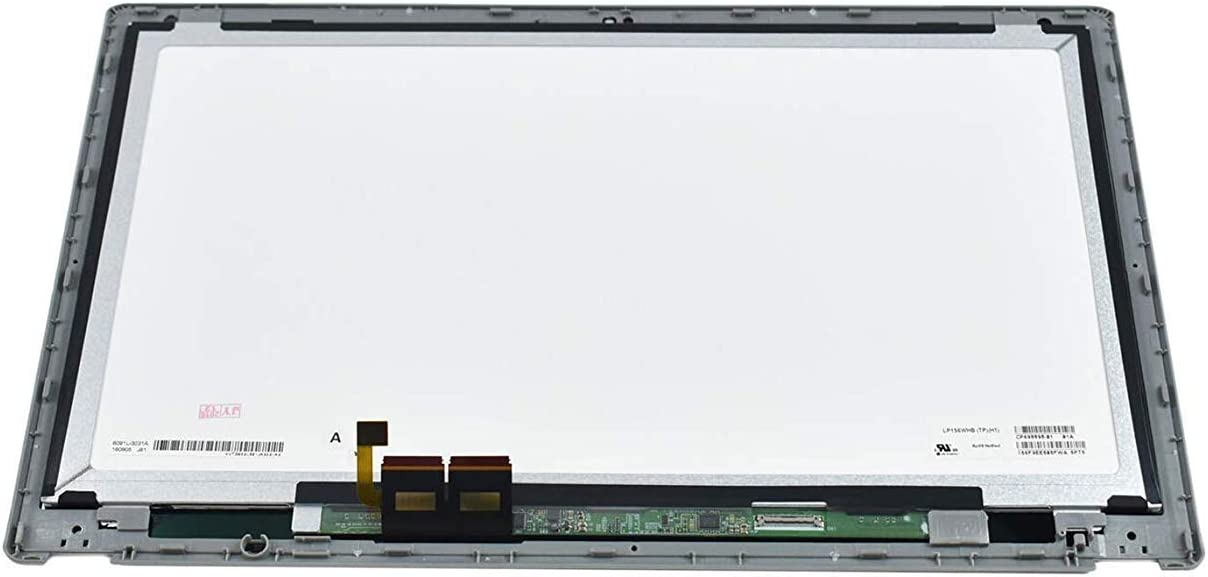 "Screen Expert 15.6"" HD 1366x768 LCD Panel Replacement LED Screen Display with Touch Digitizer and Bezel Frame Assembly B156XTN03.1 for Acer Aspire V5-571P-6642 MS2361"