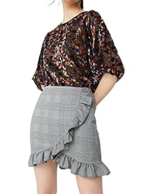 Mango Women's Houndstooth Skirt