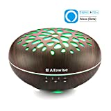 aroma accessories - Alfawise 300ml Essential Oil Diffuser Aromatherapy Humidifier Compatible with Alexa, 7 Colors LED Light Adjustable Waterless Auto Shut-off Mist Aroma for Office Home Bedroom Yoga Spa Salon Use