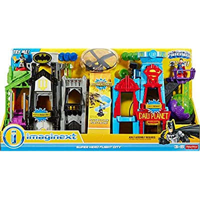 Fisher-Price Imaginext DC Super Friends, Super Hero Flight City: Toys & Games