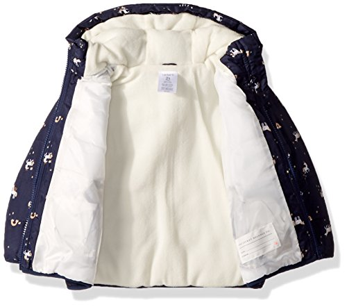 Carter's Baby Girls Fleece Lined Puffer Jacket Coat, Unicorn Navy, 18M by Carter's (Image #2)