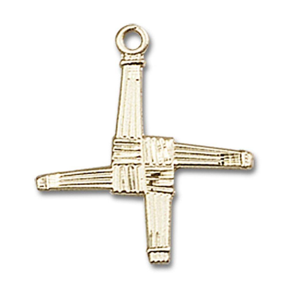 【未使用品】 14/ ktイエローゴールド聖Brigidクロスメダル5// 8 x 5 5/ 8インチ B00P5AOVHI, テニスジャパン:a0d35c5e --- narvafouette.eu