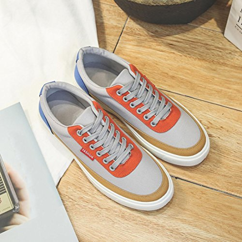 Men's Travel Gray amp; Casual Women's Shoes 42 Luoluoluo Stitching Men's Spring Sports Outdoor Shoes Shoes Shoes Women's Lacing Shoes Shoes qfHx84Iw