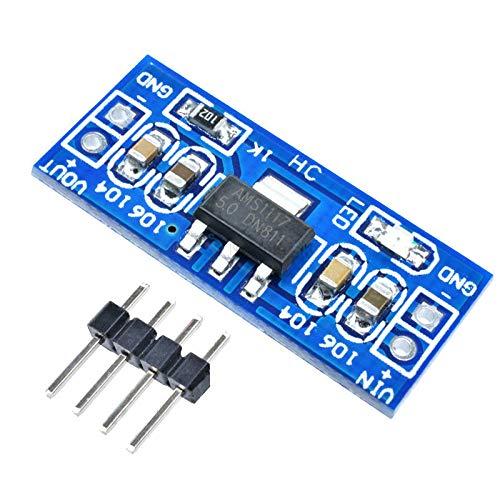 5 ピース AMS1117 6-12 ボルトターンに 5 ボルト電源モジュール AMS1117-5.0 Arduino のラズベリーパイ PCB ボード
